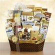 Dreaming of a White Christmas Ultimate Gourmet - White Christmas Ultimate gift basket filled with a variety of gourmet goodies.