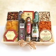 Meat & Cheese Wooden Gift Crate-Ultimate - Meat & Cheese Wooden Gift Crate filled with sampling of gourmet treats.