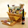 California Delicious Feast of Gourmet - Rustic crate and cutting board gift with assorted gourmet tastes.