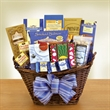 The Kosher Gourmet - Gorgeous gourmet basket brimming with kosher delights is always appropriate and always appreciated for any occasion.