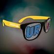 Custom Yellow Neon Billboard Sunglasses - Neon yellow billboard sunglasses with full color imprint on both lenses.