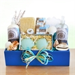Seas, Suns Greetings Spa - Seas, Suns Greetings Spa with soap, lip balm, massager, and loofah.