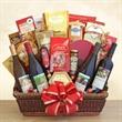 California Splendor - Wine, sweets and treats gift basket.