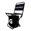 Cooler Chair - Folding Chair made of 600 denier nylon.  Cooler hanging underneath seat.  Includes carrying bag.