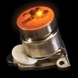 Orange Flashing LED Light Up Glow Button