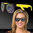Mardi Gras Eyes Yellow Billboard Sunglasses - Mardi Gras eyes yellow billboard sunglasses.