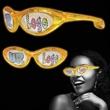 Yellow Custom LED Billboard Sunglasses