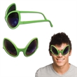 Green Alien Costume Sunglasses - Green sunglasses shaped like large alien eyes.