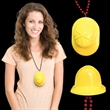 Mini Yellow Construction Hat with J-Hook medallions