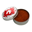 """Hickory BBQ Rub - Two ounce gift tin filled with polybagged hickory barbecue rub mixture with full-color 2"""" label."""