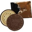 Thank You Cookie (Dark) - Black & Brown Wrapper - Thank You Dark chocolate cookie.