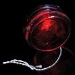 "Red & Clear 2 3/8"" Light Up Red Glow LED Yo-Yo - Red & Clear 2 3/8"" light up red Glow LED yo-yo."