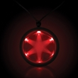 "Red 2 1/4"" Fusion LED Glow Light Up Badge with Necklace - Red 2 1/4"" Fusion LED Light Up Glow badge with necklace."