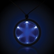 "Blue 2 1/4"" Fusion Light Up LED Glow Badge with Necklace - Blue 2 1/4"" Fusion Light Up LED Glow badge with necklace."
