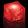 """Premium Lited Ice Red LED Light-Up Ice Cubes - Imprinted - 1 3/8"""" frosted plastic premium ice cube with built-in red LED lights that have 3 light settings."""