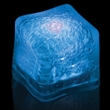 """Premium Lited Ice Blue LED Light-Up Ice Cubes - Imprinted - 1 3/8"""" frosted plastic premium ice cube with built-in blue LED lights that have 3 light settings."""