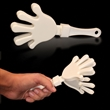 "White White & White Hand Clapper - 7"" white high-quality hand clappers"