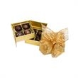 8 Decorated Truffles in Double Layer Gift Box - 8 Decorated truffles, 99% Organic, Colorfully Foil-Wrapped in Gift Box.