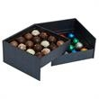 32 Truffles in Double Layer Hard Gift Box - 32 truffles, 99% Organic, Colorfully Foil-Wrapped in Gift Box.