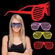 Colorful Slotted Eyeglasses - Plastic eyeglasses with slotted lenses; offered in a variety of colors.
