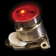 Red Flashing LED Light Up Glow Button - Red colored stock LED light up flashing button with Tie-Tac butterfly backing.