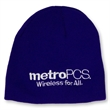 Knitted Beanie with Embroidered Logo