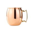 Polished Copper Plated Stainless Steel Moscow Mule Mug - Mirror polished copper plated stainless steel Moscow Mule mug with gold plated handle.