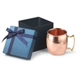 18 oz  Stainless  w/copper finish Dutch Mule  Gift Set - Gift set with 18 oz. Moscow Mule mug