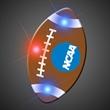 Imprinted Football Pin LED Blinkies