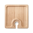 Bamboo Buffet Plate - Bamboo, Food Safe Finish, Holds Wine Glass