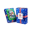 Holiday Present Gift Box - Winter holiday gift box with clear window displaying candy.