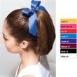 Soffe (R) Bow Scrunch - Polyester ribbon bow scrunch. Blank.
