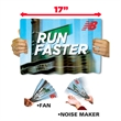 """Bang a Banner - Digitally printed banner, noise maker and fan, 11"""" x 17""""."""