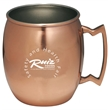 Copper coated Moscow mule mug - Copper coated Moscow mule mug, special design handle, single wall construction.