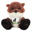 """10"""" Chit Chat Otter with t-shirt and full color imprint"""