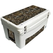 "Frio 65 Oilfield - OilField themed.Built in light, fully customizable, 65 quart, mid sized, Frio 65 Cooler 32.625"" L x 18.5"" W x 17.625"" H 32.8 lbs"