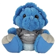 """10"""" Toughie Triceratops Dinosaur with hoodie and one color"""