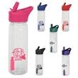 22 oz. TIO TRITAN WATER BOTTLE - 22 oz. Plastic water bottle with coconut filter straw.