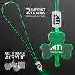 LED Neon Green Lanyard with Acrylic Shamrock Pendant
