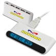 4 PORT USB HUB WITH DIGITAL CLOCK AND TEMPERATURE - 4 PORT USB HUB WITH DIGITAL CLOCK AND TEMPERATURE