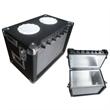 Mini amp cooler case with bluetooth speakers
