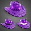 Purple Sequin LED Cowboy Hats