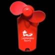 Red Handheld Mini Imprintable Fans