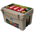 """Frio 45 Cooler Tan - Detachable Light in lid, fully customizable, 45 quart, tan, mid sized, Frio 45 Cooler 26.25"""" L x 17.375"""" W x 16.125"""" H 25.2 lbs"""