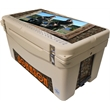 "Frio 65 Cooler Tan - Built in light, tan, fully customizable, 65 quart, mid sized, Frio 65 Cooler 32.625"" L x 18.5"" W x 17.625"" H 32.8 lbs"