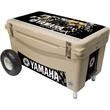 Frio 65 Tan Extreme - Built in light, tan, fully customizable, 65 quart, mid sized, Frio 65 Cooler with wheels!