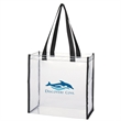 "CLEAR TOTE BAG - Clear box tote with large open makes it easy to access contents. Meets stadium guidelines for 12"" x 12"" x 6"" clear bags and PGA to"