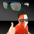 Football Novelty Billboard Sunglasses - Football novelty sunglasses made of plastic with pinhole football design on both tenses.