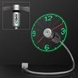 USB Powered LED Light Clock Desk Fan