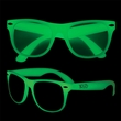 Kids Glow-In-The-Dark Glasses - Plastic sunglasses for kids that glow in the dark and come with UV400 lenses.